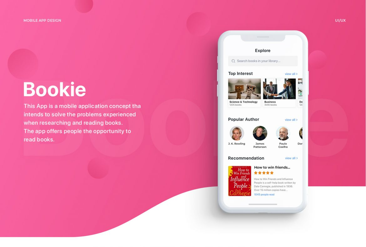 Bookie  IOS app for every book lover - Appening